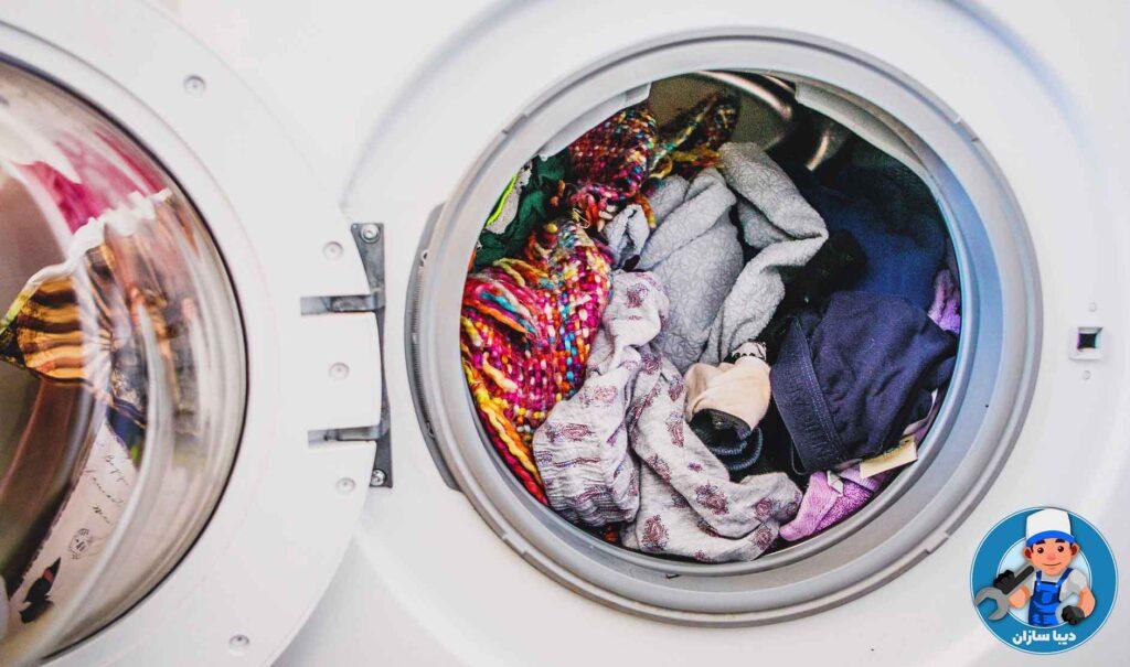 پر کردن لباسشویی بیش از حد ظرفیت آن
