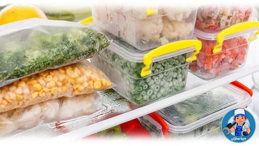 دلایل یخ زدن مواد غذایی در یخچال سامسونگ