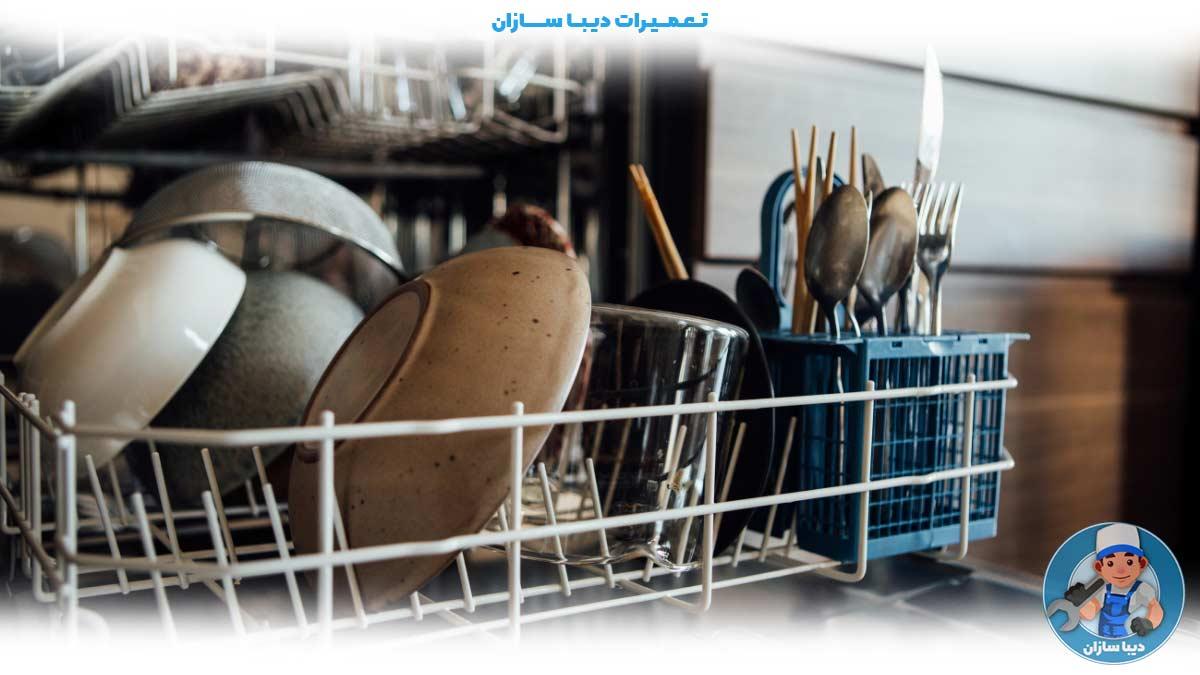 دلایل زنگ زدن سبد ظرفشویی